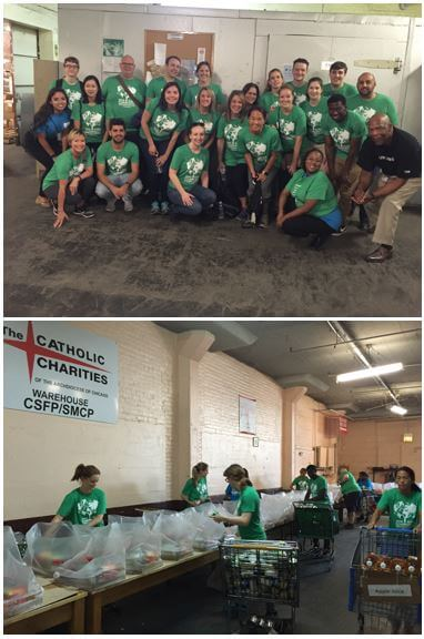 Performics team at Catholic Charities