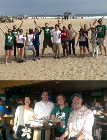 Performics team at Venice Beach