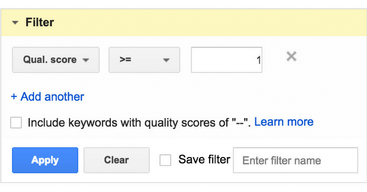 Google's Null Quality Scores
