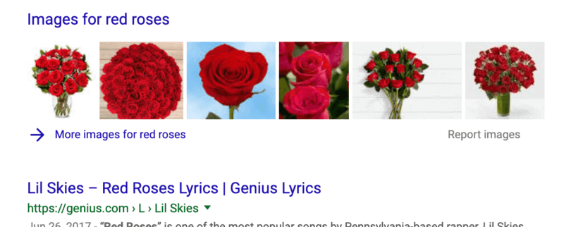 Google image box search engine results pages